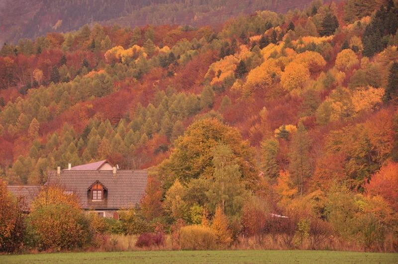 Le chalet après orage automne