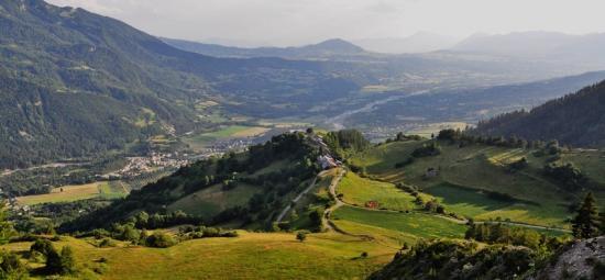 La vallée depuis  les Richards
