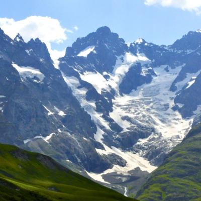 Massif de la Meïje, glacier de l'Homme vu du col du lautaret