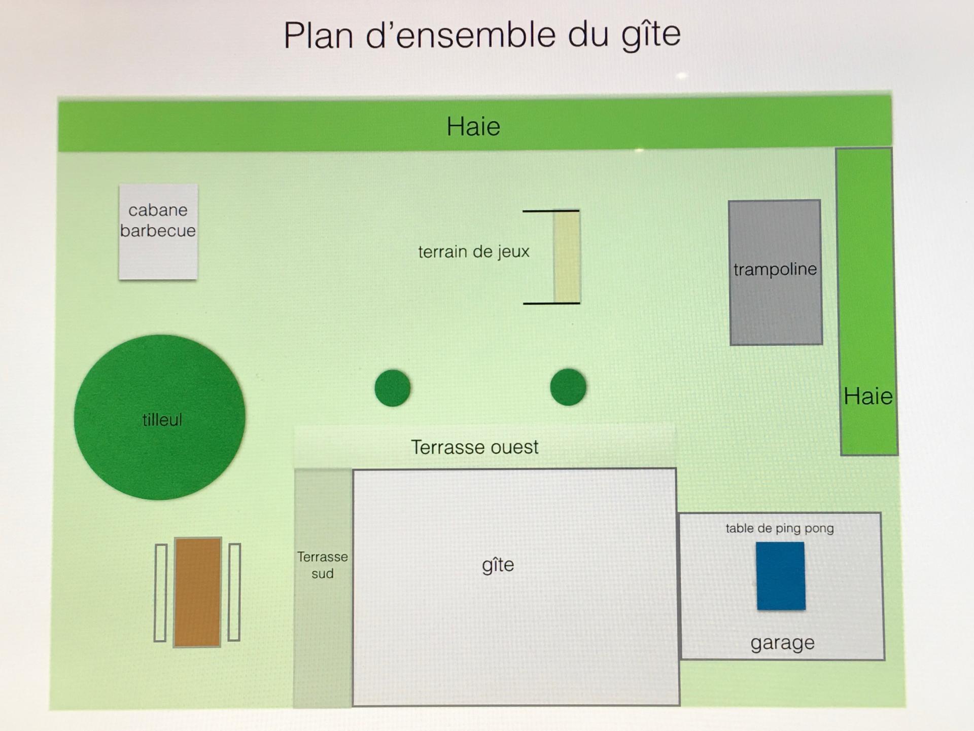 Plan du terrain du chalet