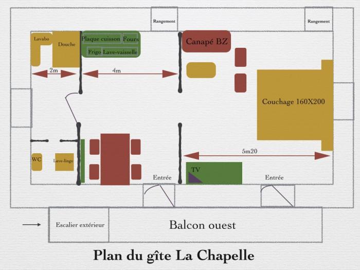 Plan gîte la chapelle
